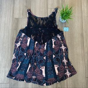 Free People Count Me In Trapeze Mini Dress Medium